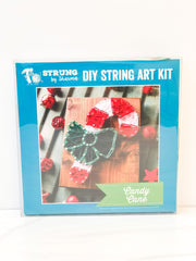 DIY Mini String Art Kit - Candy Cane
