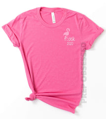 'Flock 2020' Flamingo Signature Graphic Tee by Prep Obsessed
