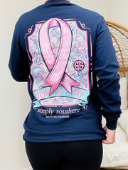 'Fight For Life' Breast Cancer Ribbon Long Sleeve Tee by Simply Southern