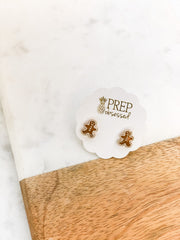 Frosted Gingerbread Man Signature Enamel Studs