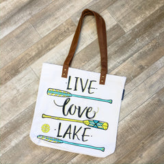 'Live Love Lake' Canvas Tote by Simply Southern
