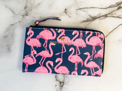 Printed Clutch by Simply Southern - Flamingo