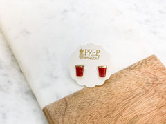 Red Solo Cup Studs