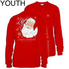 Youth 'Believe' Santa Long Sleeve Tee by Simply Southern