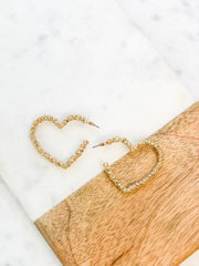 Valentina Heart Hoops - Gold