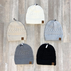 Cable Knit Beanie by SS - Choice of Color