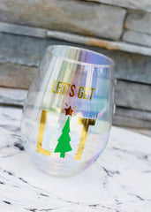 'Let's Get Lit' Stemless Wine Glass