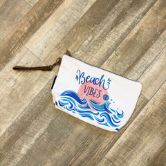 'Beach Vibes' Canvas Pouch by Simply Southern