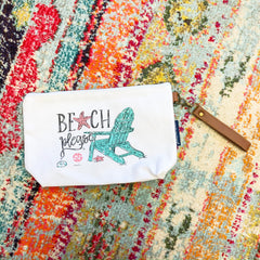 'Beach Please' Canvas Pouch by Simply Southern