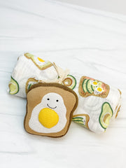 Toast Swaddle & Rattle Set by Mud Pie