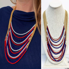 Melora Americana Layered Beaded Necklace