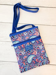 Paisley Print Crossbody Bag by Simply Southern