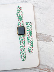 Christmas Holly Printed Silicone Watch Band
