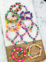 Girls Pretty Sweet Fruity Stretch Bracelet - Choice of Style