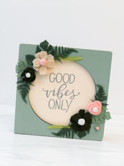 'Good Vibes Only' Box Sign by PBK