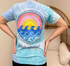 'Saltwater Heals The Soul' Tie Dye Short Sleeve Tee by Simply Southern