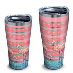 Flamingo Stripes Stainless Steel Tumbler by Tervis (3-4 Week Production Time)