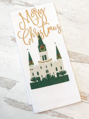 Cathedral Christmas Flour Sack Hand Towel