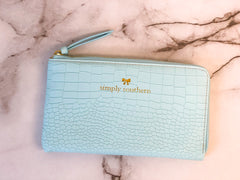 Solid Clutch by Simply Southern - Blue