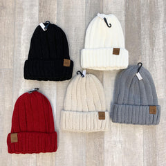 Ribbed Knit Beanie by SS - Choice of Color