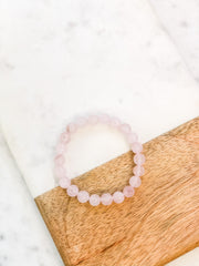 Riley Stretch Bracelet - Rose Quartz