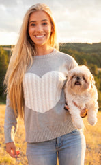 White Heart Sweater by Simply Southern