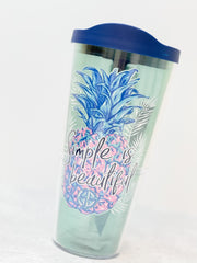 Simply Southern 'Simple Is Beautiful' 24 oz Double Wall Tumbler by Tervis (Ships in 2-3 Weeks)