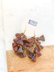 Joanne Multi Tassel Earrings - Rainbow