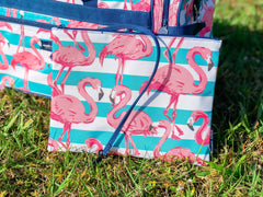Flamingo Print Wet/Dry Bag Wristlet by Simply Southern