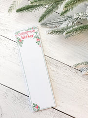 'Christmas Wishes' Magnetic Notepad by PBK