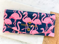 Printed Large Cardholder by Simply Southern - Flamingo