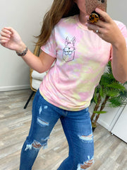 Bunny Pocket Tie Dye Graphic Tee