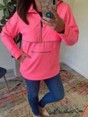 New Englander Pullover by Charles River Apparel (1-2 Week Production Time) - Neon Pink