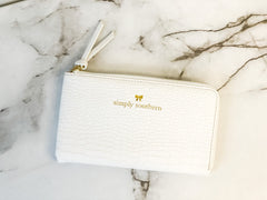 Solid Clutch by Simply Southern - White