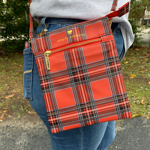 Simply Southern Plaid Crossbody Purse