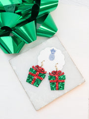 Glitter Present Dangle Earrings