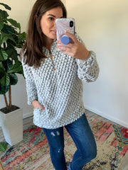 Gray Mermaid Sherpa Pullover by SS