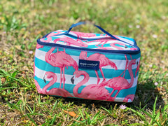 Flamingo Print Makeup Bag by Simply Southern