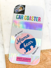 'Mama Bear' Car Coaster by Simply Southern