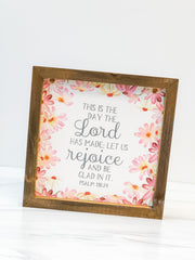'Lord Made' Framed Box Sign