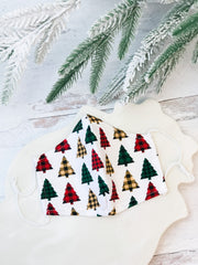 Holiday Printed Face Masks - Christmas Trees