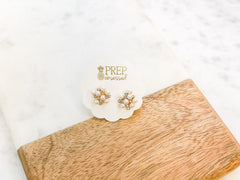 Bubbly Pearl Cluster Studs