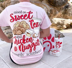 'Sweet Tea & Chicken Nuggets' Short Sleeve by Simply Southern