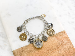 Antiqued Lucky Charming Bracelet