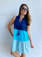 Mckenna Color-Block Dress by Mud Pie - Blue