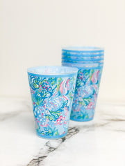 Pool Cups by Lilly Pulitzer - Aqua La Vista