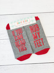 'Rub My Feet' Non-Slip Socks by Simply Southern