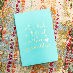 'She Led a Life of Endless Possibilities' Journal