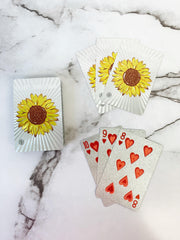 'Hello Sunshine' Sunflower Water Resistant Playing Cards by Simply Southern
