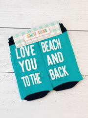 'Love You To The Beach and Back' Non-Slip Socks by Simply Southern